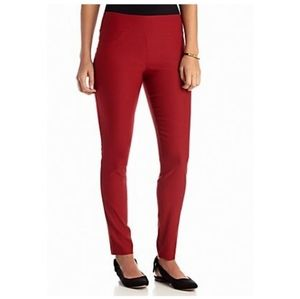 Stoosh Red Textured Pull On Pants sz S
